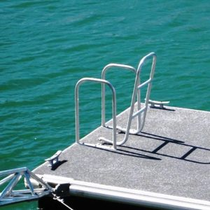 Boarding ladder with handrails