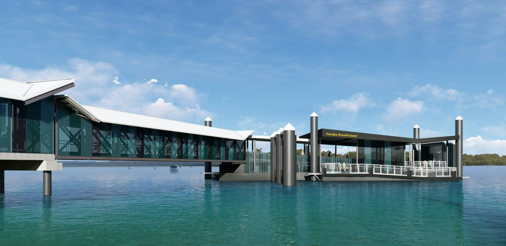 ARTIST IMPRESSION OF RUSSELL ISLAND FERRY TERMINAL